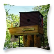 Tree House Boat 3 Throw Pillow