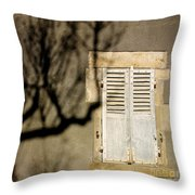 Tree Shadow Throw Pillow