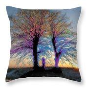 Trees Aglow Throw Pillow