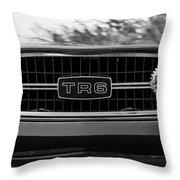Triumph Tr 6 Grille Emblem Throw Pillow