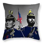 Troopers Indian Wars Memorial Encampment Ft. Lowell Tucson Arizona 1970-2008 Throw Pillow