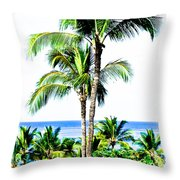 Tropical Palm Trees Throw Pillow