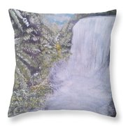 Tropical Waterfall Throw Pillow