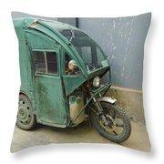 Tuk Tuk 3-wheeled Motorcycle Throw Pillow