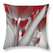 Tulip Abstract Throw Pillow