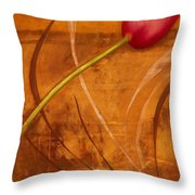 Tulips Are People Xi Throw Pillow