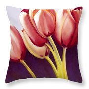 Tulips Are People Xiii Throw Pillow