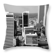 Tulsa Oklahoma Skyline Aerial Throw Pillow