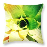 Tunnel Of Green Throw Pillow