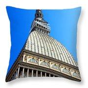 Turin Mole Antonelliana Throw Pillow