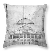 Turkey: Hagia Sophia, 1830s Throw Pillow
