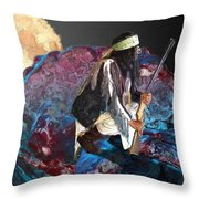 Turquoise Mountain Throw Pillow