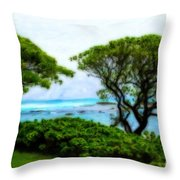 Turtle Bay View Throw Pillow