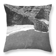 Turtle Head Sea Cave Napali Coast Throw Pillow