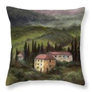 Tuscan Landscape Throw Pillow