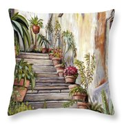 Tuscan Steps Throw Pillow