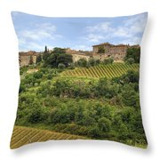 Tuscany - Castelnuovo Dell'abate Throw Pillow