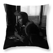 Tuskegee Airman, 1945 Throw Pillow