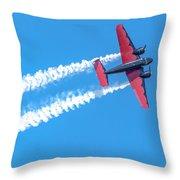 Twin Engine Plane  Throw Pillow