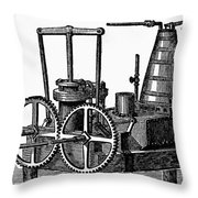 Twin-screw Steamer, 1878 Throw Pillow