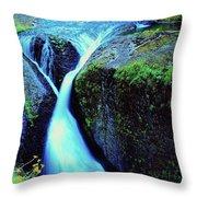 Twister Falls  Throw Pillow