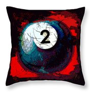 Two Ball Billiards Abstract Throw Pillow For Sale By David
