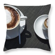 Two Cups Of Coffee Throw Pillow