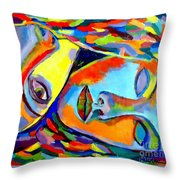 Two Energies Throw Pillow