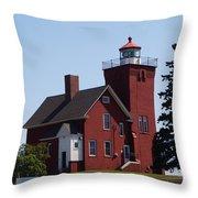 Two Harbors Lighthouse Throw Pillow