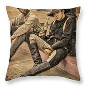 Two Of A Kind Throw Pillow by Priscilla Burgers