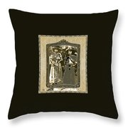 Two  Soldaderas Unknown Mexico Location Or Date-2014 Throw Pillow