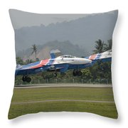 Two Sukhoi Su-27 Flanker Of The Russian Throw Pillow