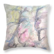 Two Trees In The Wind Throw Pillow