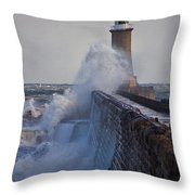 Tynemouth Pier Throw Pillow