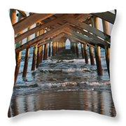 Under The Pier II Throw Pillow