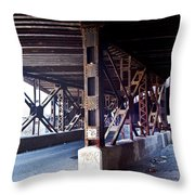 Under The Tracks Throw Pillow