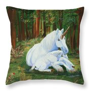 Unicorns Lap Throw Pillow