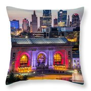 Union Station Throw Pillow