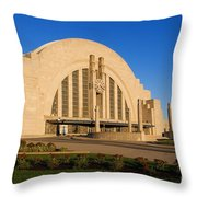 Union Terminal, Cincinnati Throw Pillow