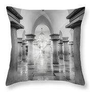 United States Capitol Crypt Throw Pillow