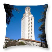 University Of Texas At Austin Throw Pillow