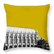 University Of Washington - Suzzallo Library - Gold Throw Pillow