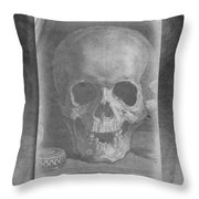 Untitled Skull Throw Pillow