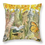 Blossom Time Throw Pillow