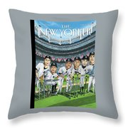 New Yorker April 8th, 2013 Throw Pillow
