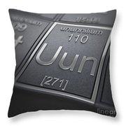 Ununnilium Chemical Element Throw Pillow