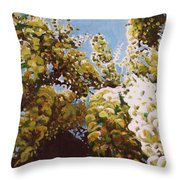 Up Into Wisteria Throw Pillow