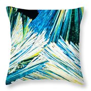Urea Or Carbamide Crystals In Polarized Light Throw Pillow