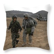 U.s. Army Commander, Right Throw Pillow