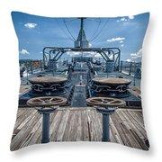 Uss Missouri Anchor Chain Throw Pillow